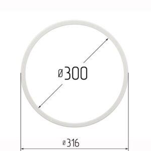 Кольцо протекторное для натяжных потолков 300