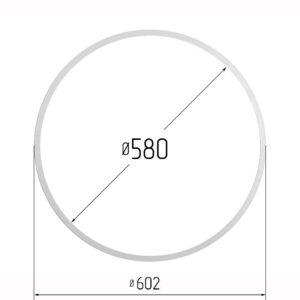Кольцо протекторное для натяжных потолков 580
