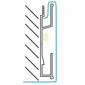 Профиль ПК-4 для 3D потолков 2,5 м 1-2