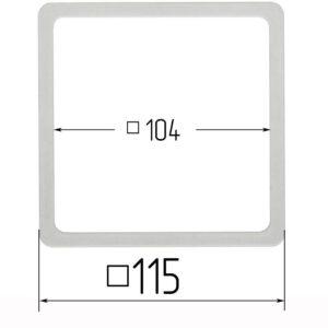 термоквадрат для натяжного потолка 115